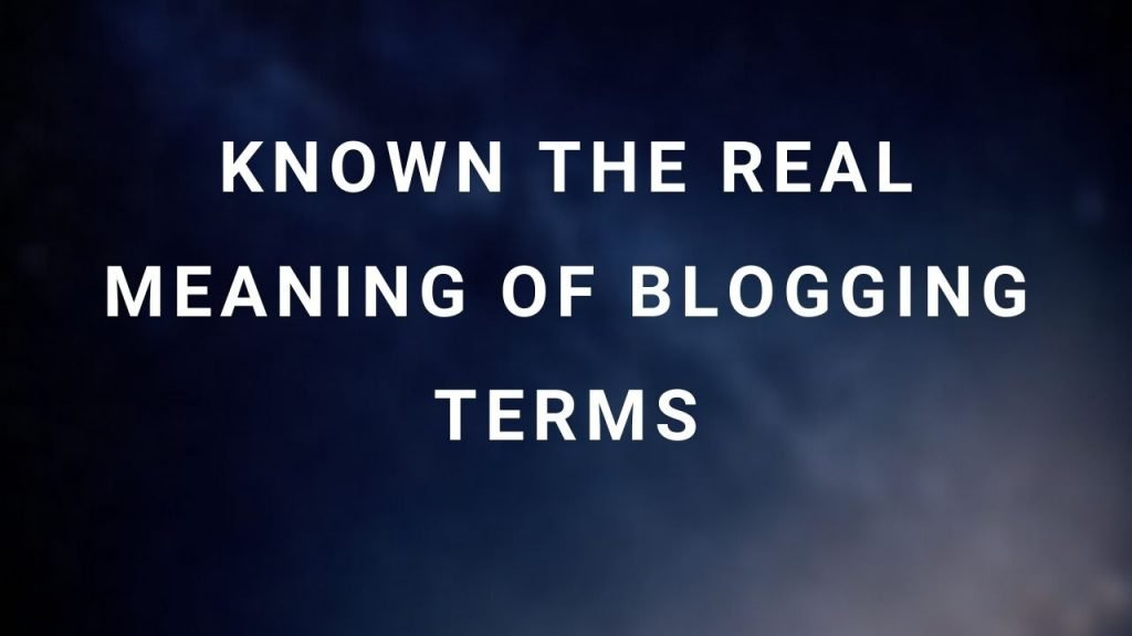 List of blogging terms and vocabulary