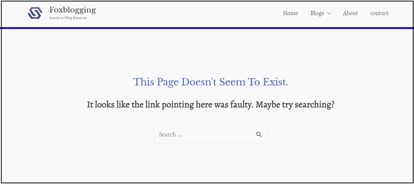 404 error pages in wordpress site