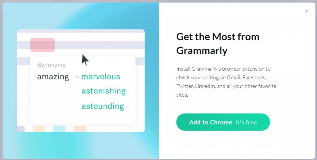 Add Grammarly to chrome