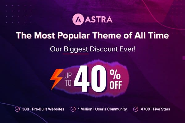 Astra Theme Black Friday Deals