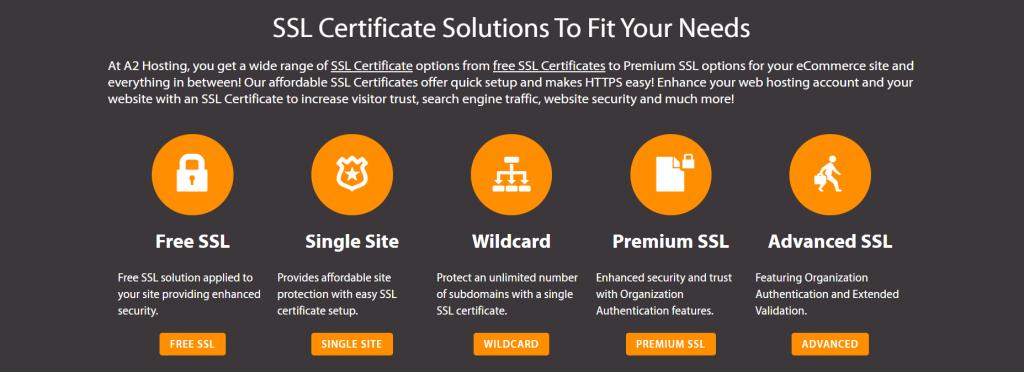 A2 Hosting SSL certificates