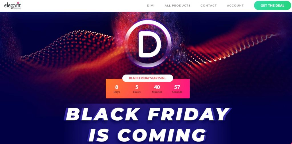 Elegant themes Black Friday and Cyber Monday offers