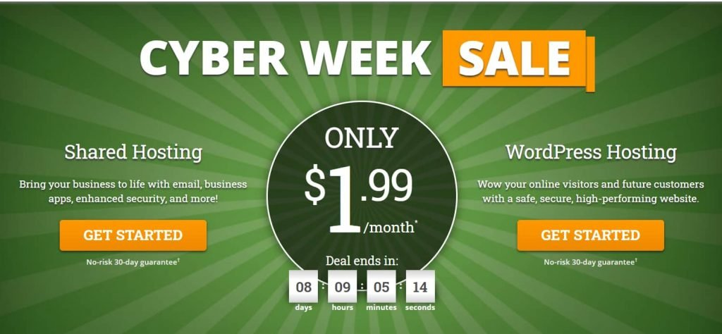 HostPapa Cyber week sale discounts