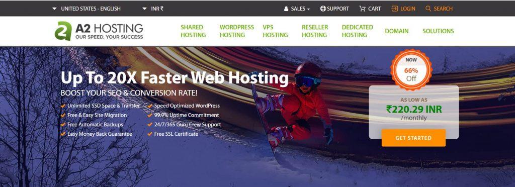 Faster Web Hosting - A2