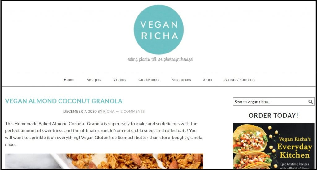 Best indian vegan recipes blogs - Vegan Richa
