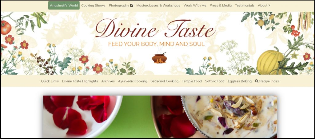 Indian Food Blog - Divine taste