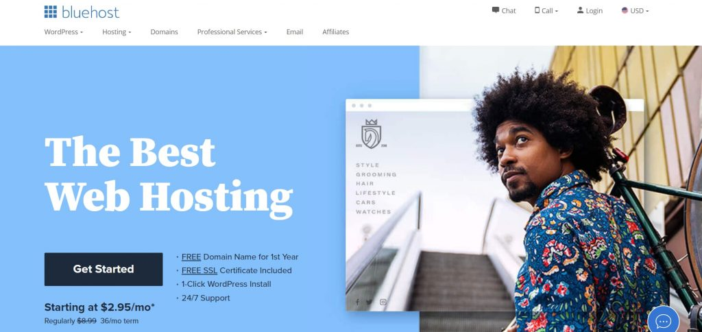 Buy a domain and hosting - Step by step process from Bluehost