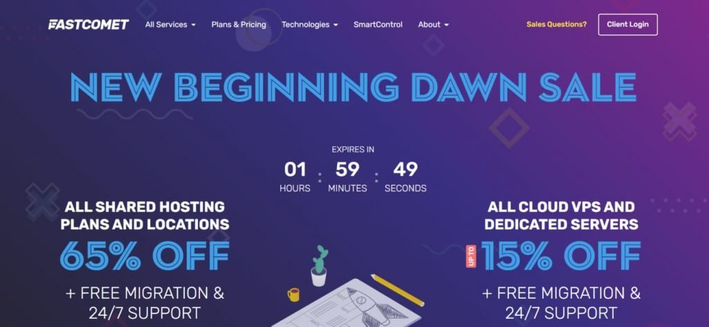 FastComet coupons and discount codes