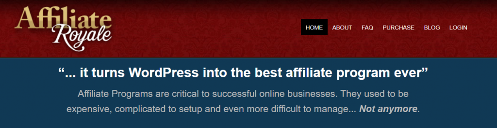 Affiliate Royale - own affiliate program