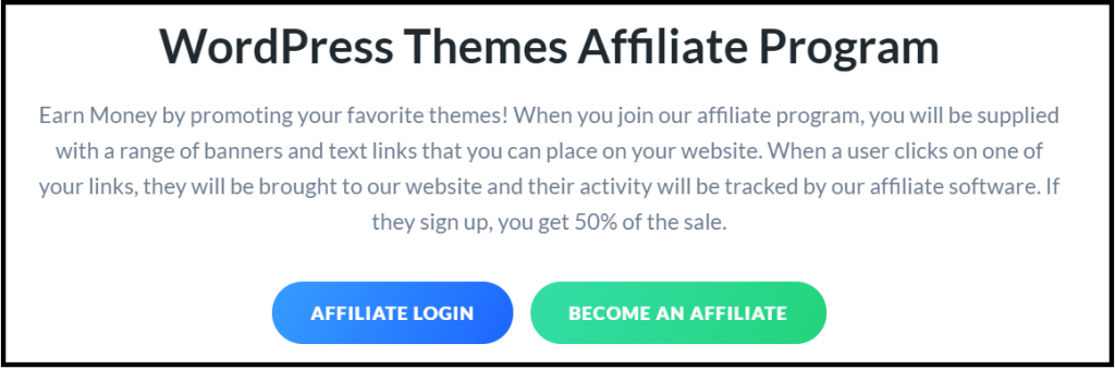WordPress themes affiliate programs