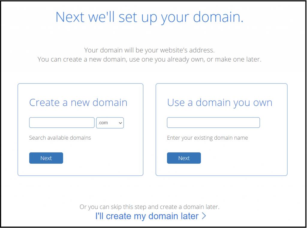 Create your free domain name