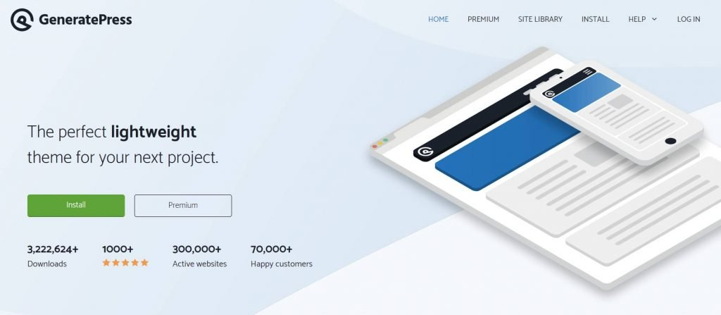 GeneratePress - Fastest WordPress theme