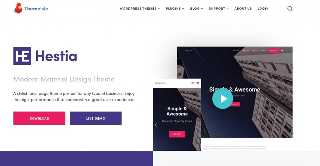 Hestia - Stylish WordPress theme