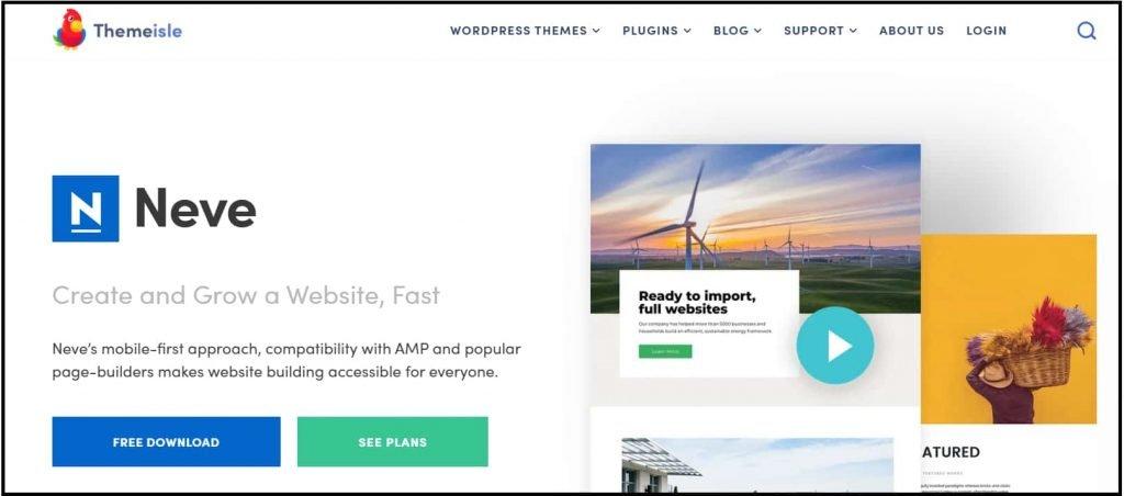 Neve - Stylish free WordPress blog theme