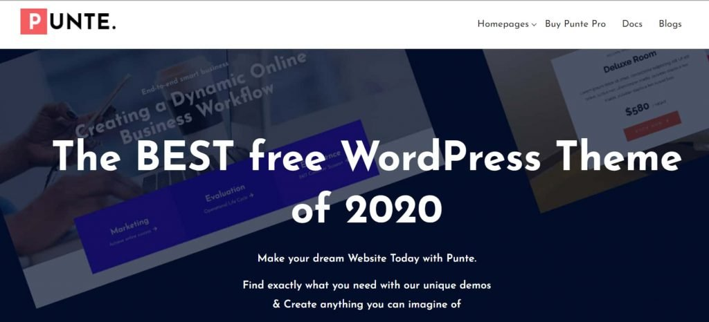 Punte - Completely free WordPress blog theme