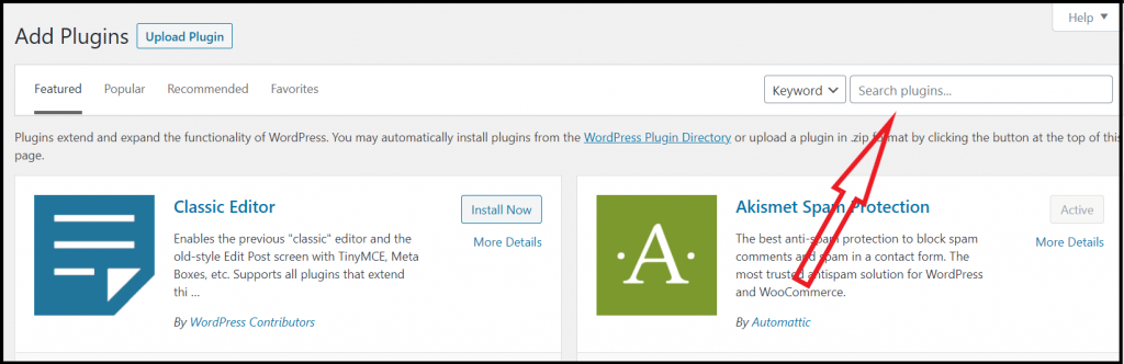 Find and search plugins