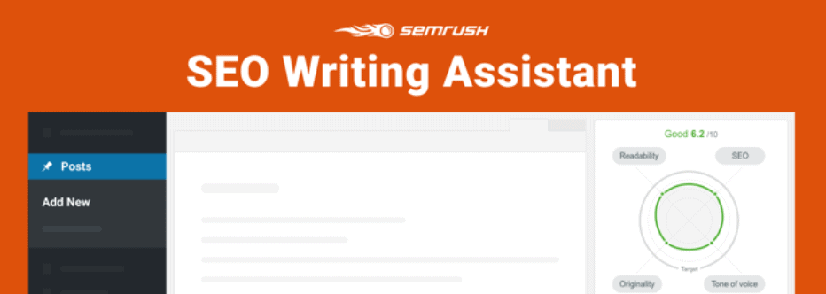 Semrush writing assistant tool for WordPress