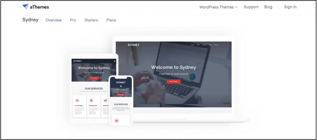 Sydney - Good WordPress theme