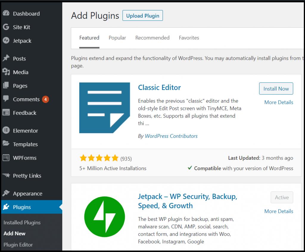 Upload the plugin on WordPress dashboard