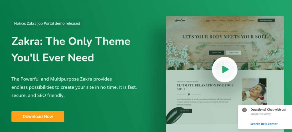 Zakra - Fastest blog theme for WordPress