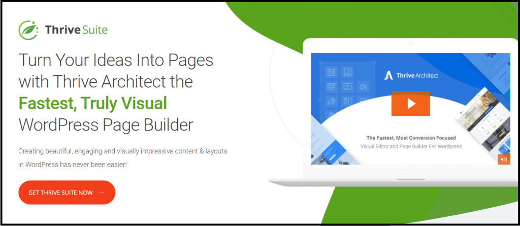 Thrive Architect visual page builder plugin for WordPress