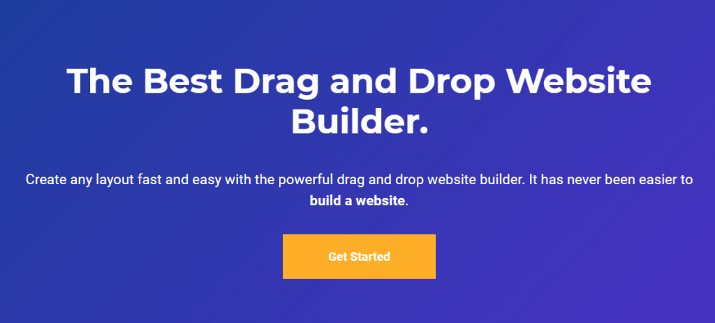 Visual composer -drag and drop website builder